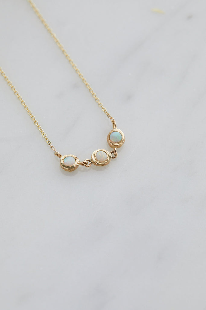 Trinity Spark Necklace Opal