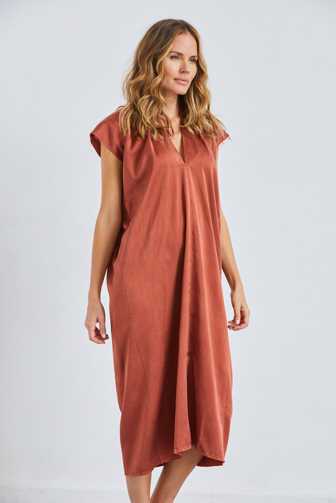 Knot Dress, Silk Charmeuse, Palermo, O/S