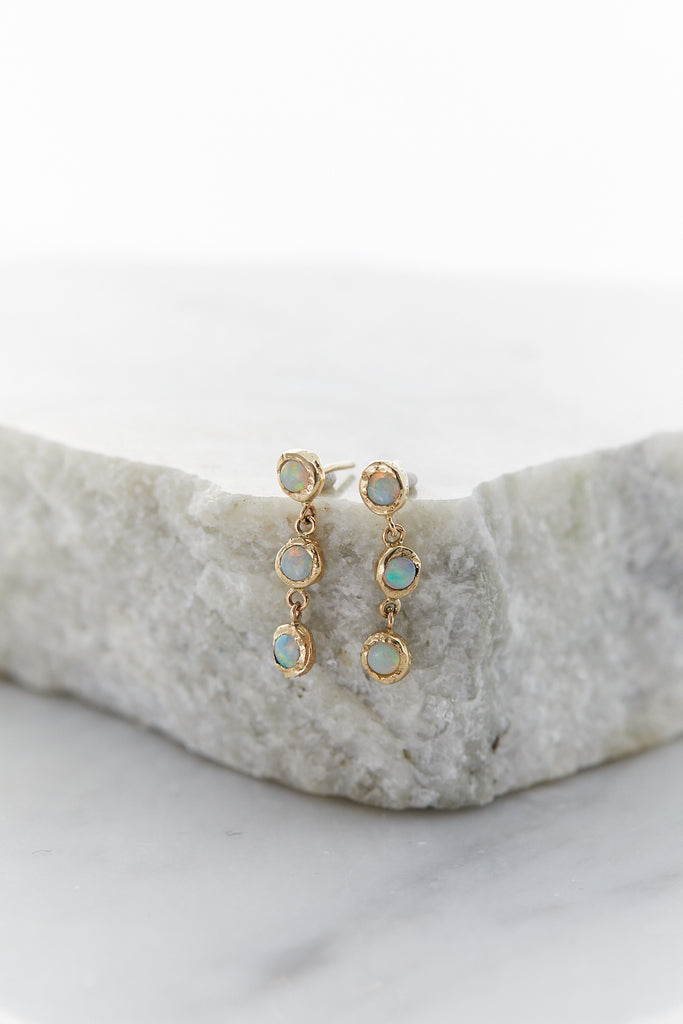 Opal Trinity Spark Earrings