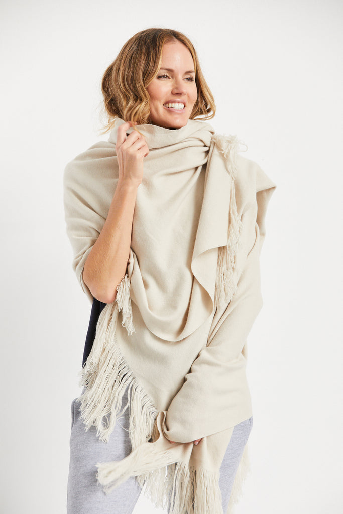 Natha Oversized Wrap Bone, O/S