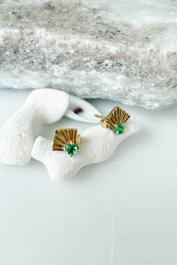 Emerald Morro Earrings