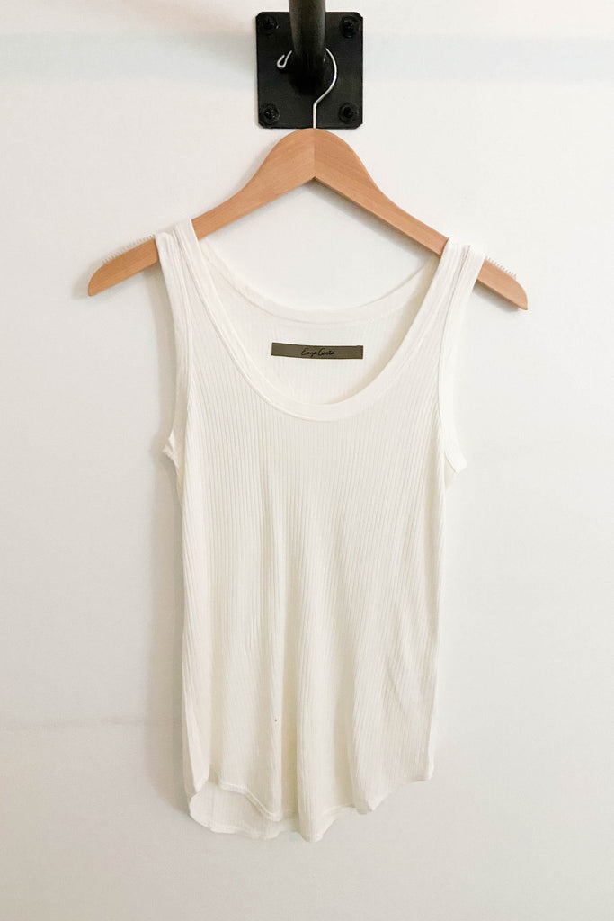 Ribbed Baseball Tank