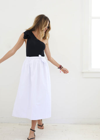 Pareo Long Skirt, White, O/S