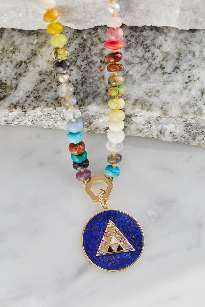 Lapis Triangle Medallion
