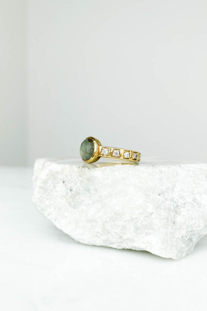 Hope Solitaire Labradorite Ring, Size 7