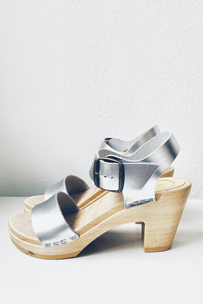 Two Strap Clog High Heel