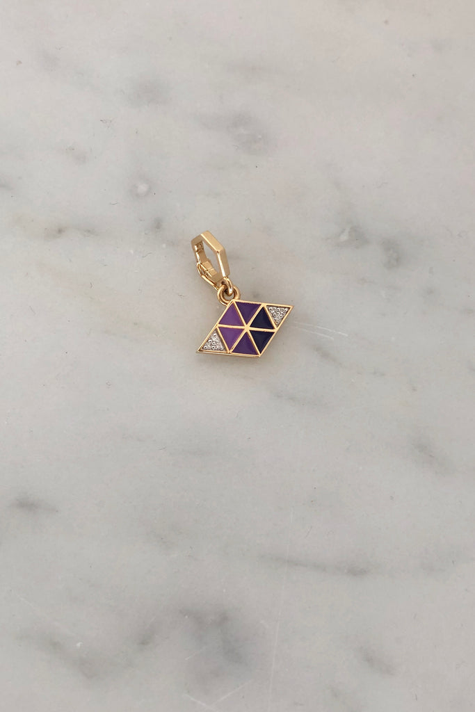Purple Evil Eye Charm