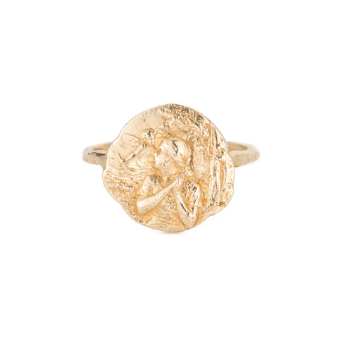 Joan the Warrior Ring, YG, Sz 7