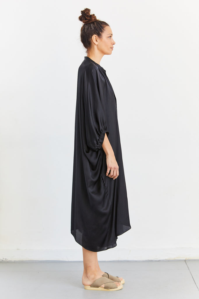 Pull Me To the Back Dress in Satin Chiffon