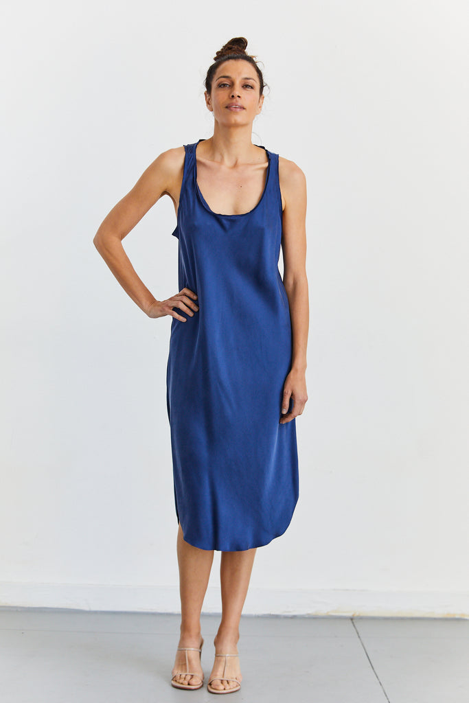Silk Tank Dress in Silk Charmeuse