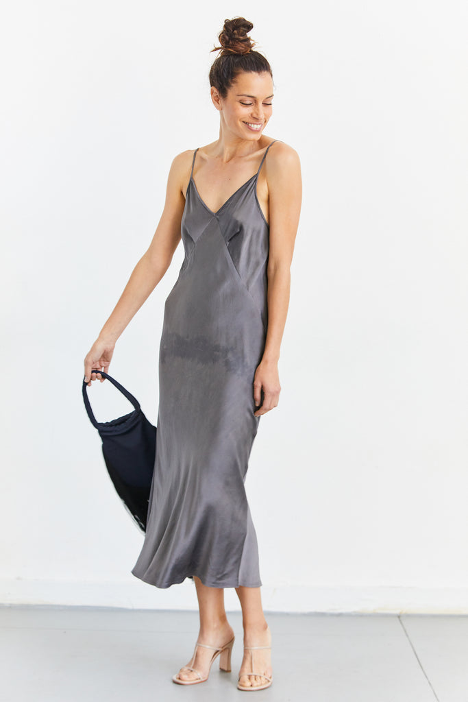 7/8 Triangle Slip Dress in Silk Charmeuse