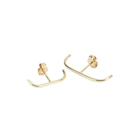 Medium Stitch Stud 14k GOLD