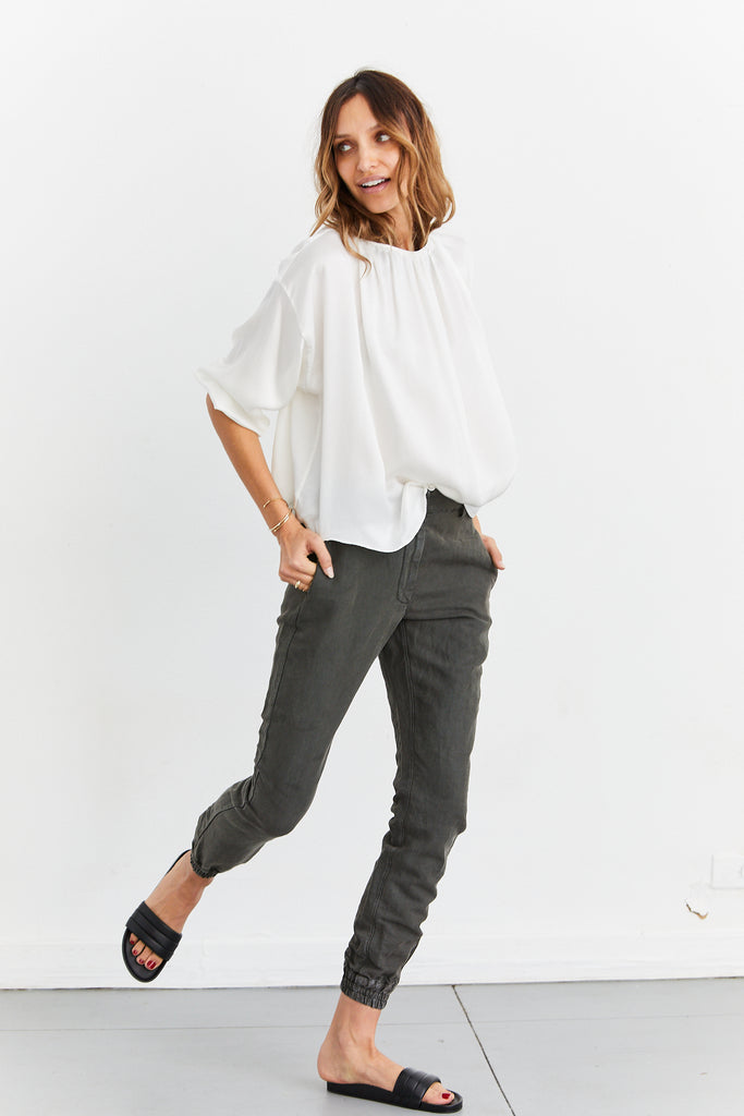 Modern Reversed Monk Blouse