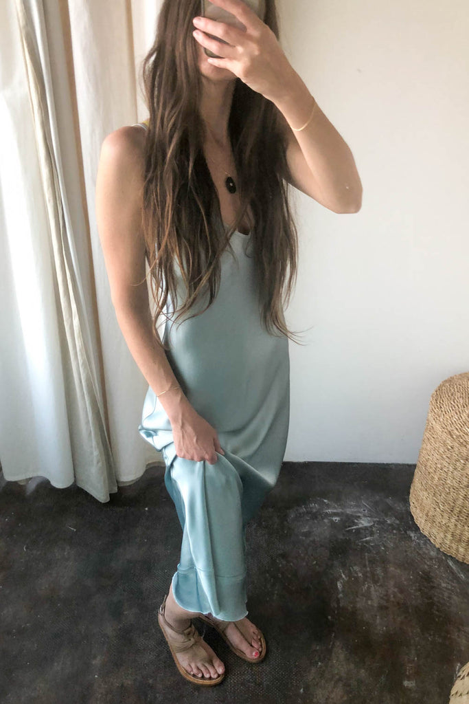 Stella Silk Satin Slip Dress