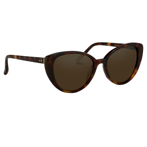 Tortoise Shell Cat Eye Frame Sunglasses