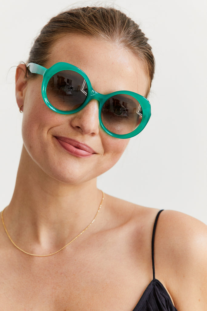 Carlota Sunglasses, Electric Green