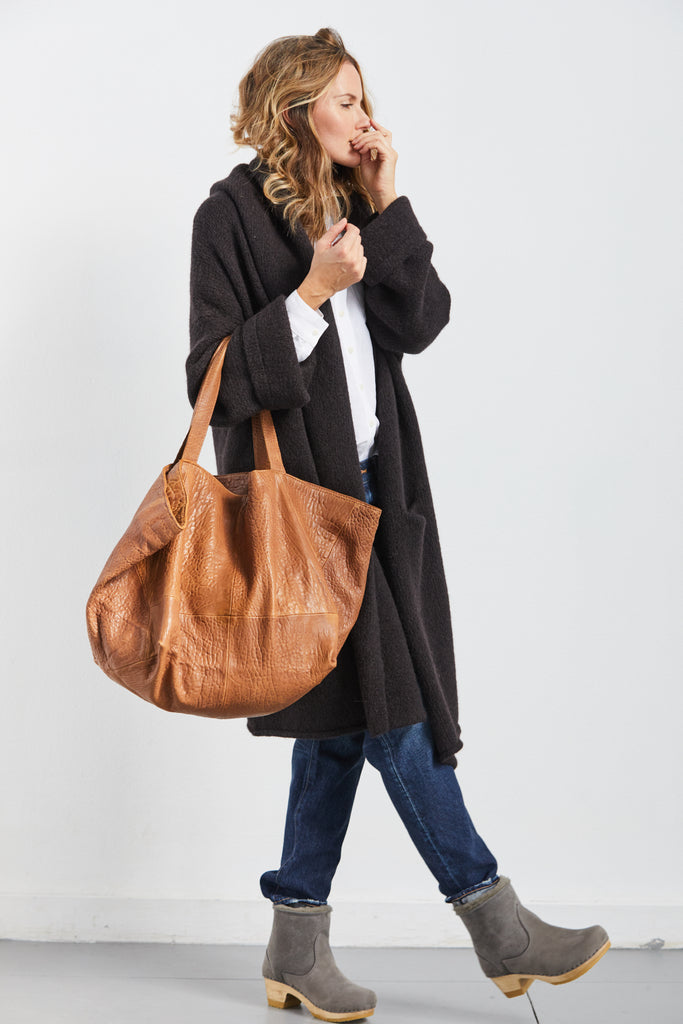 Becca Leather Bag, Chestnut, O/S