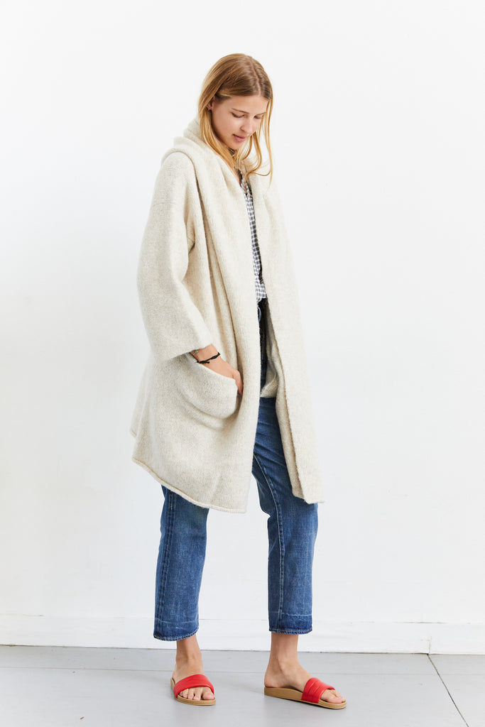 Capote Coat, Hessian, O/S