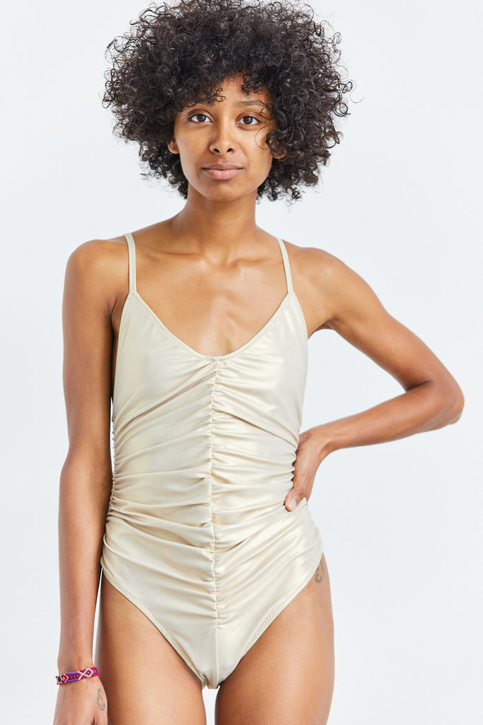 Rouched Camisole Maillot