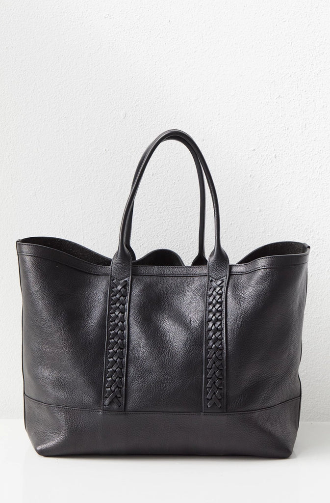 Braided Working Tote, Black