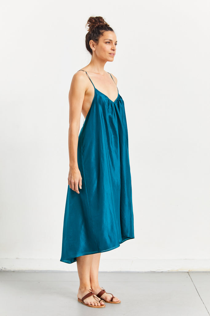 V Neck Slip Dress Lined