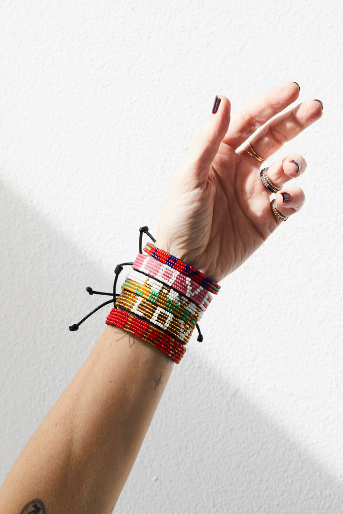 Maasai Beaded Love Bracelet