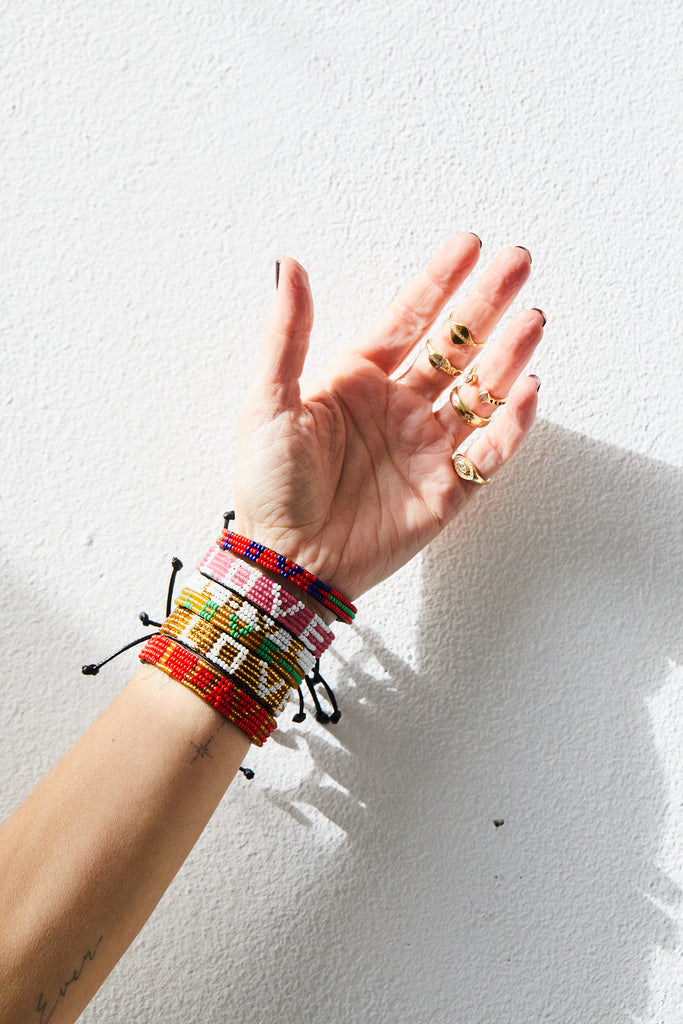 Skinny Maasai Beaded Love Bracelet