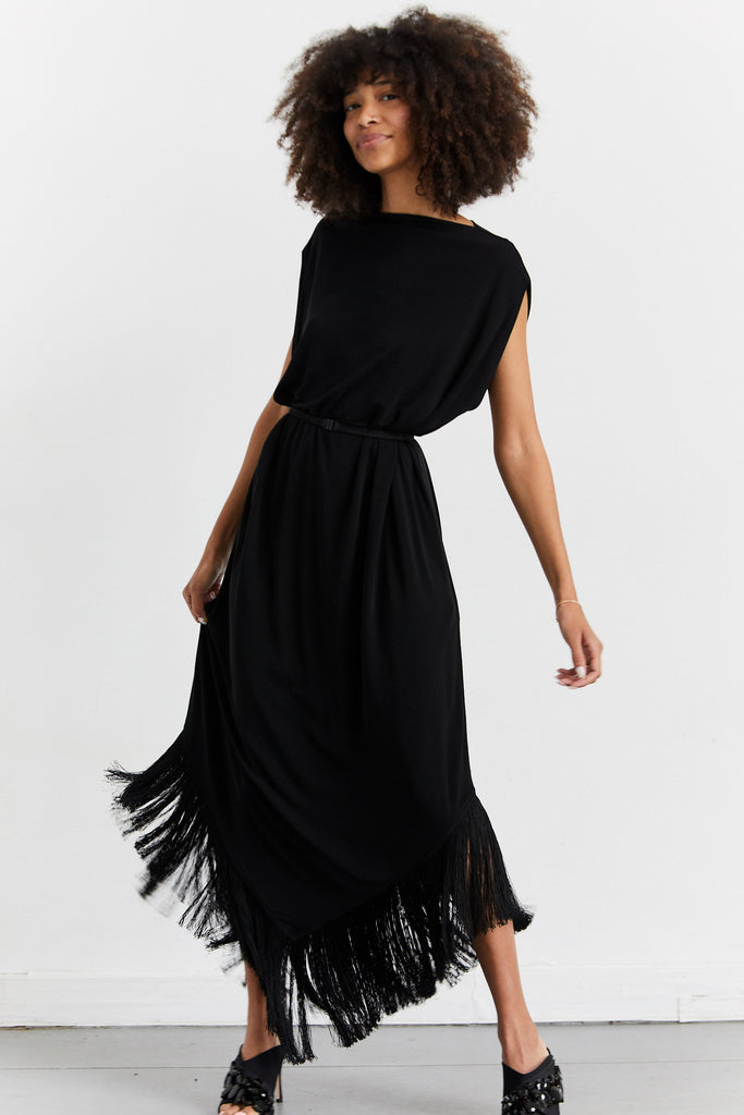 Fringed Cocoon Dress