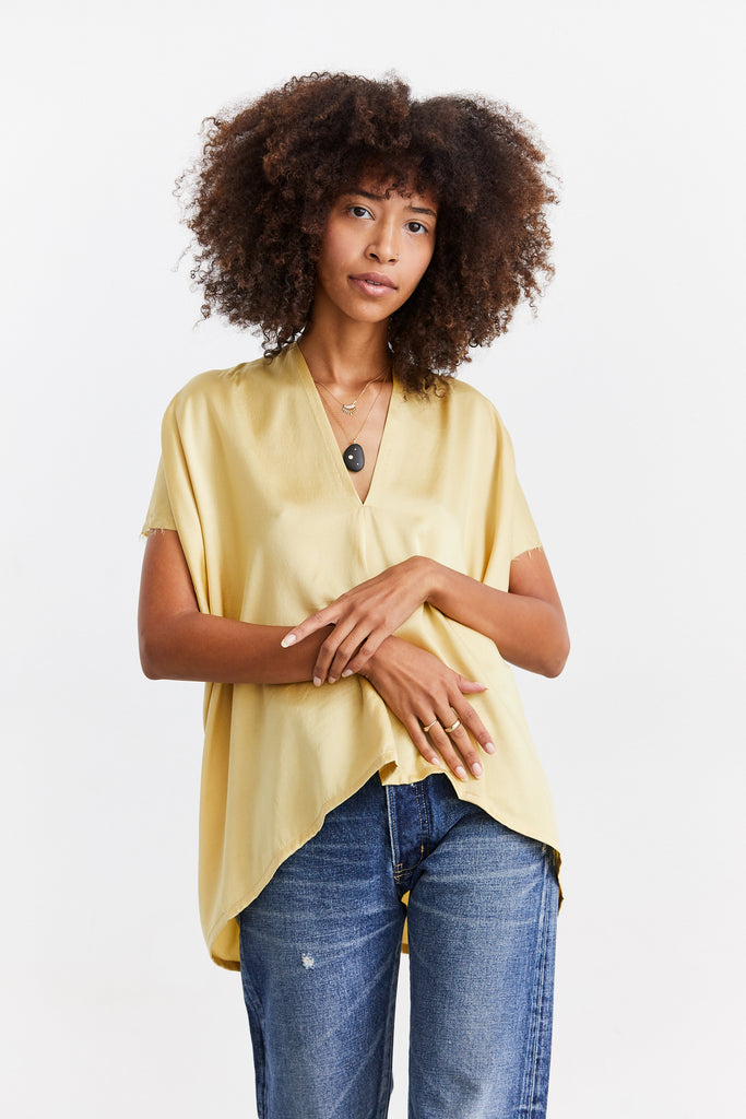 Everyday Top, Silk Charmeuse, Sumatra, O/S