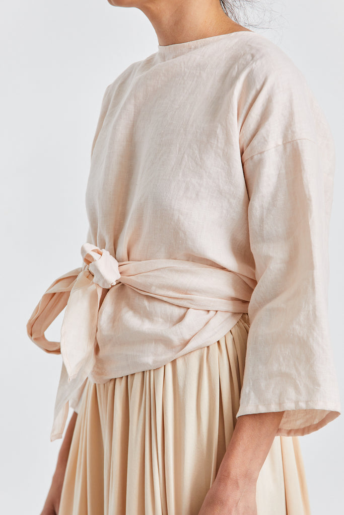 Wrap Top Linen, Hanging Rock, O/S