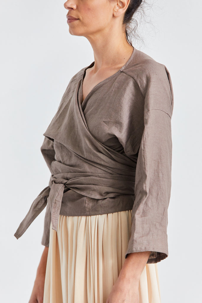 Wrap Top Linen, Terlingua, O/S