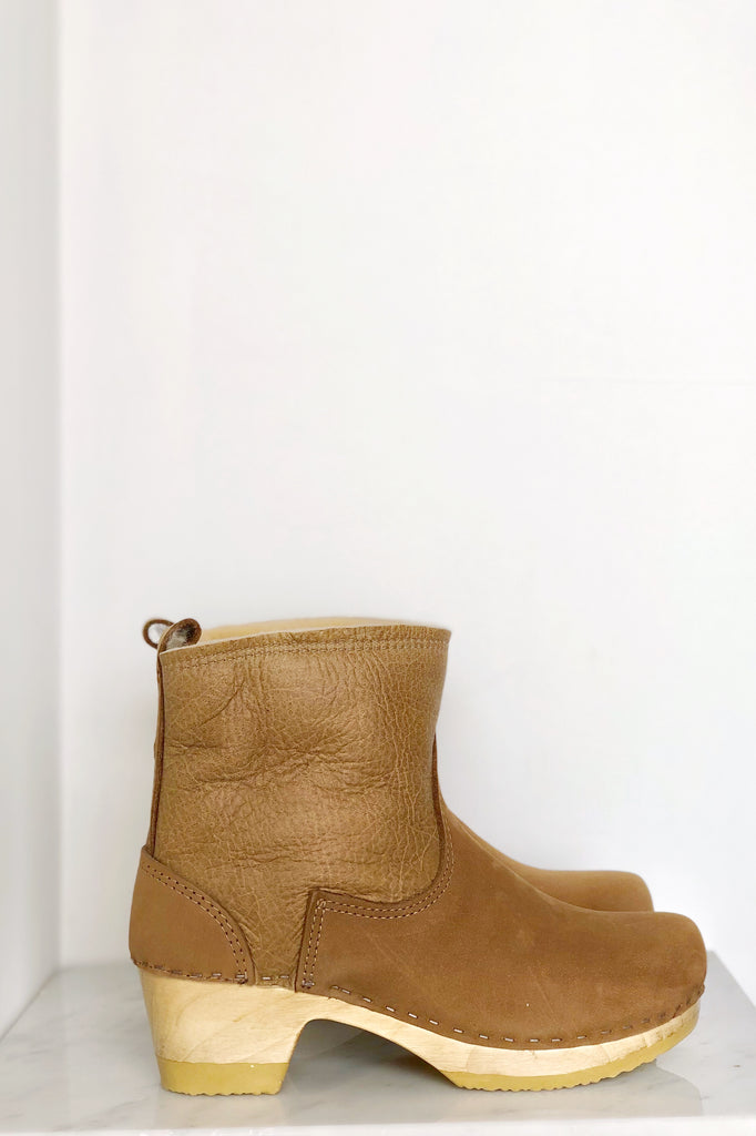 "5"" Pull on Shearling Boot on Mid Heel"
