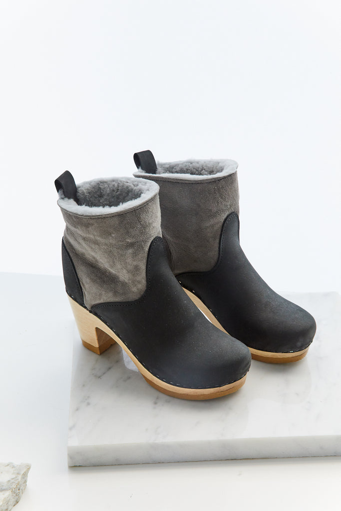"5"" Pull on Shearling Boot on High Heel"