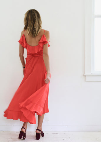 Alcatraz Silk Dress Poppy