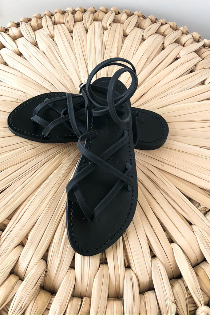 Zenobie Ebene Black on Black K. Jacques Sandal
