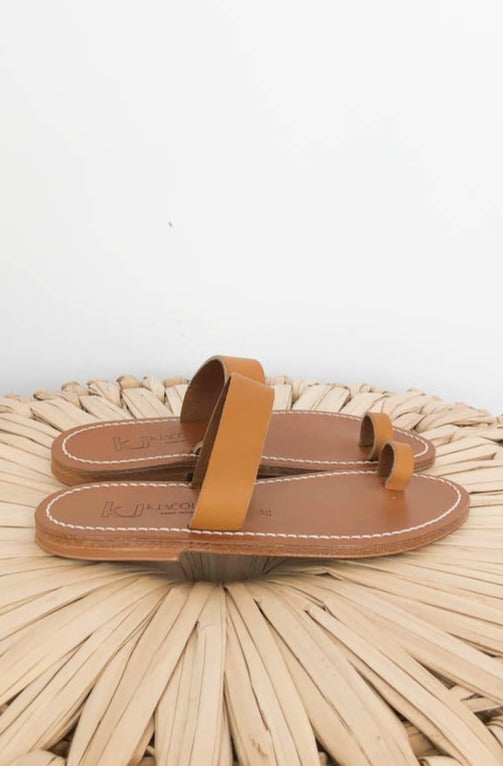 K. Jacques Sandal Tan Toe Ring Sandal Natural