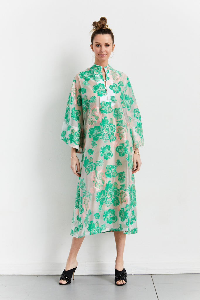 Caftan No. 345 Sheer Floral