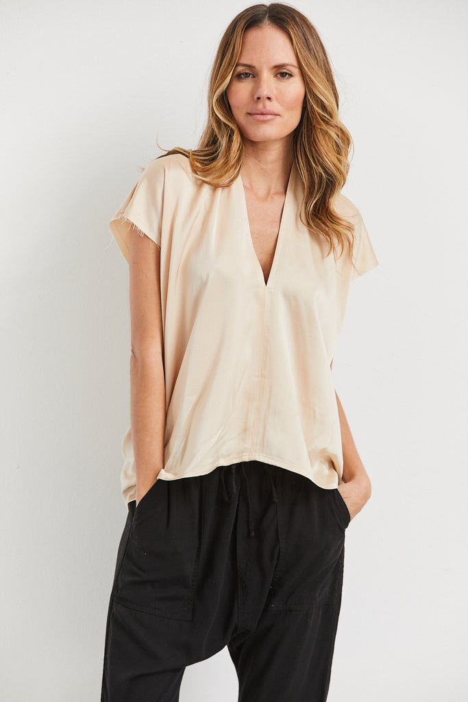 Everday Top Silk Charmeuse, Lennon, O/S