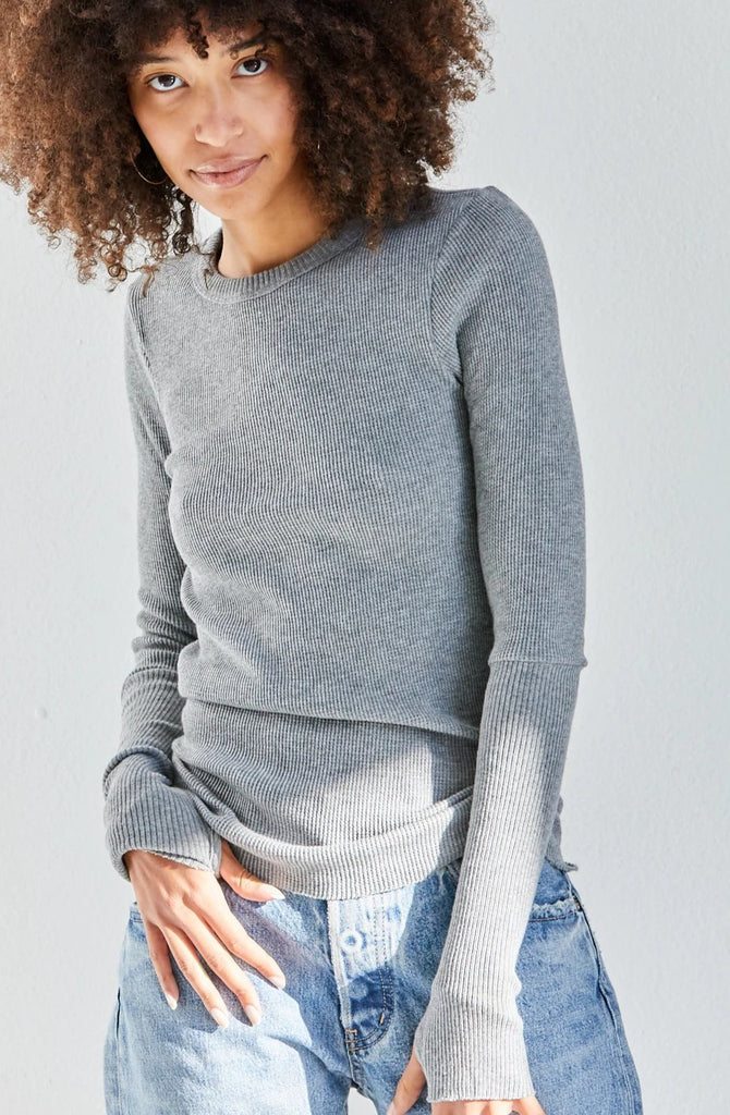 Cashmere Thermal L/S Cuffed Crew