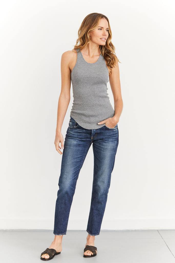 Cashmere Thermal Baseball Tank