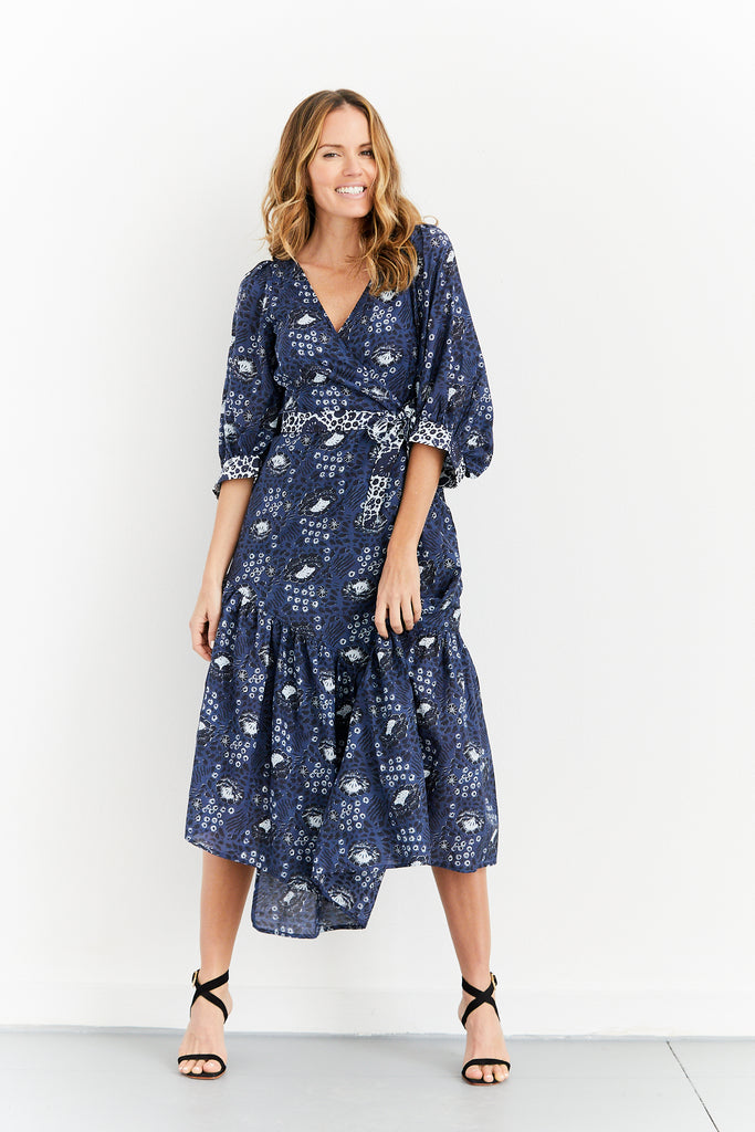 Bouganvillea Wrap Dress