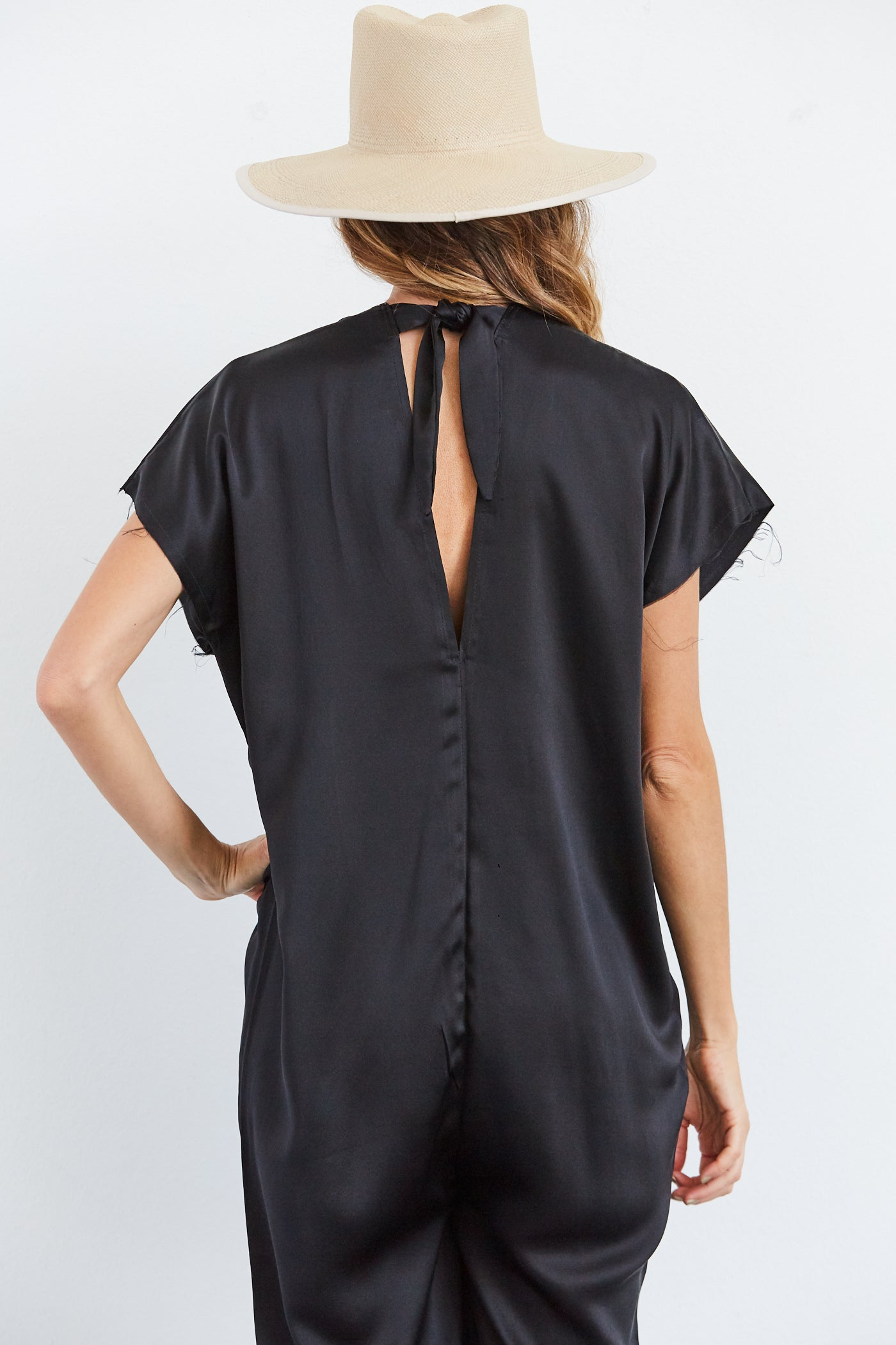 Everyday Jumpsuit, Black, Silk Charmeuse, O/S