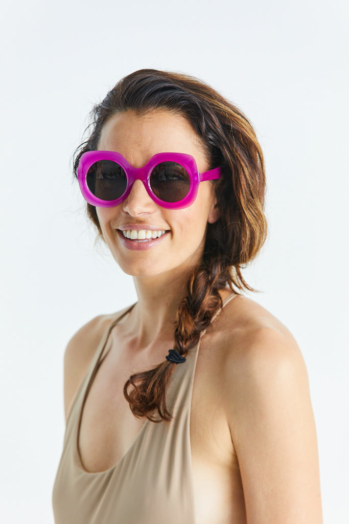 Paula Sunglasses, Ultra Violet Lens w/ Dark Green