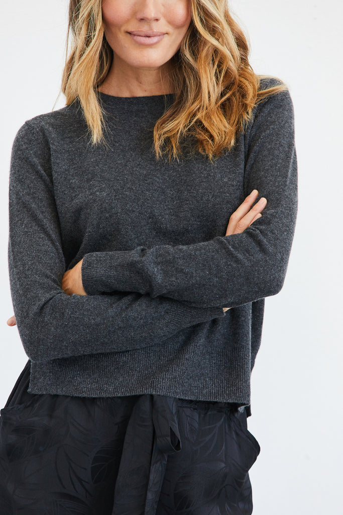 Bridget Cashmere Cropped Pullover