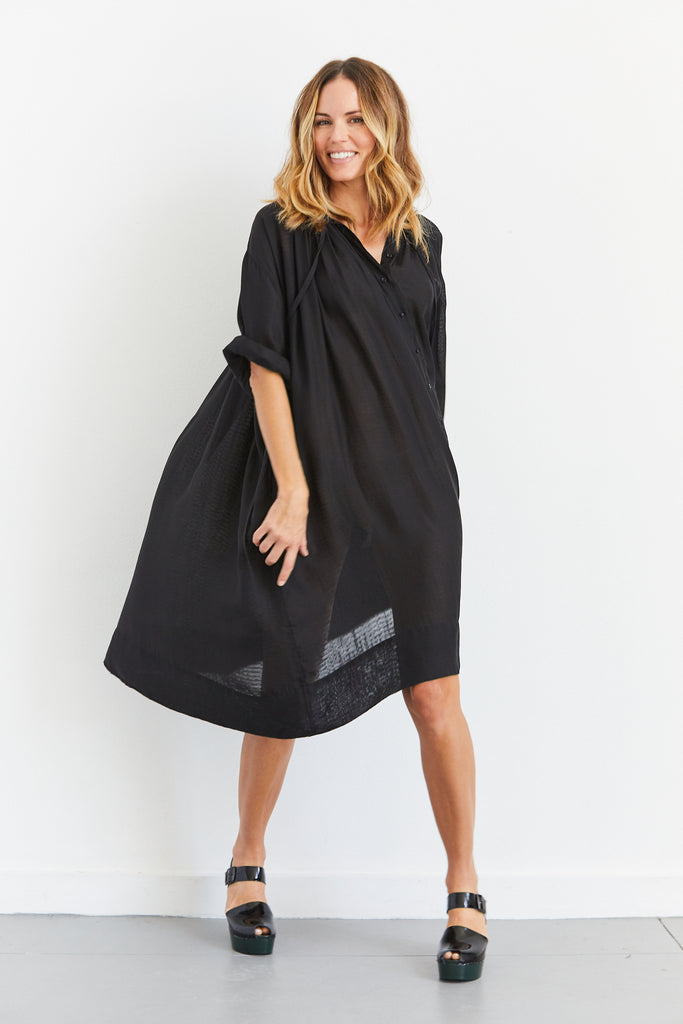 Cuffed Monk Dress