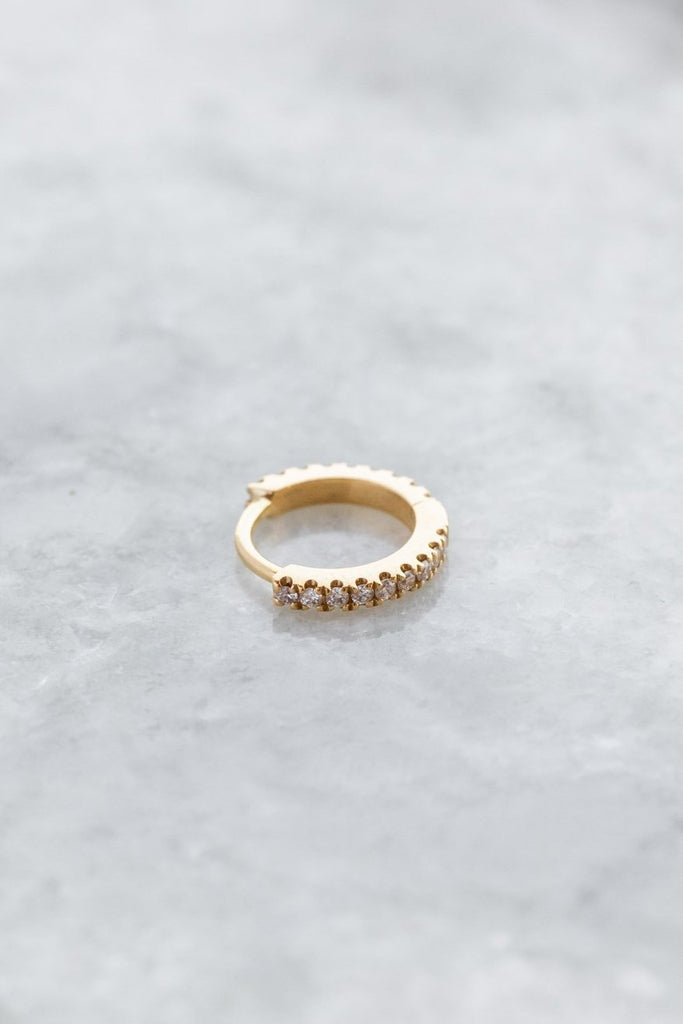6.5mm Diamond Eternity Clicker Earring