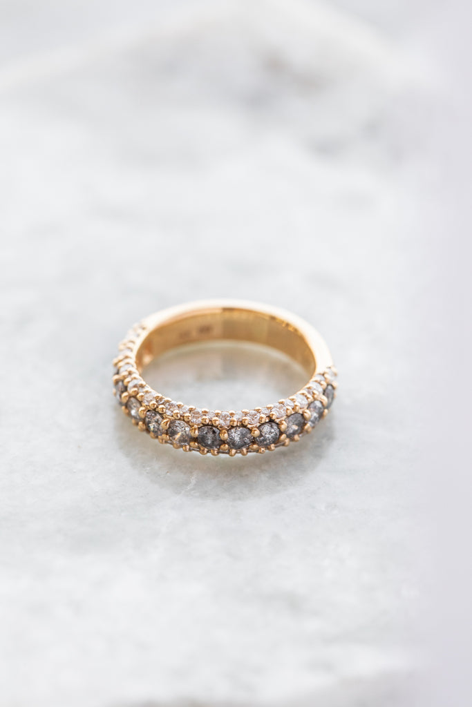 Celestine Half Eternity Pave Band