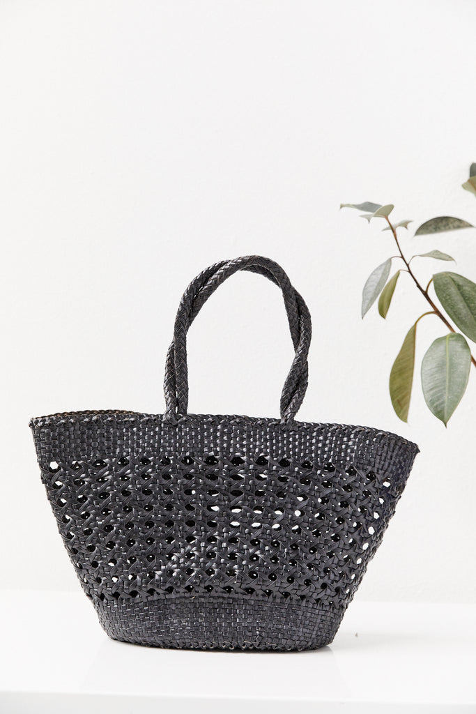 Cannage Market Tote Large, Black