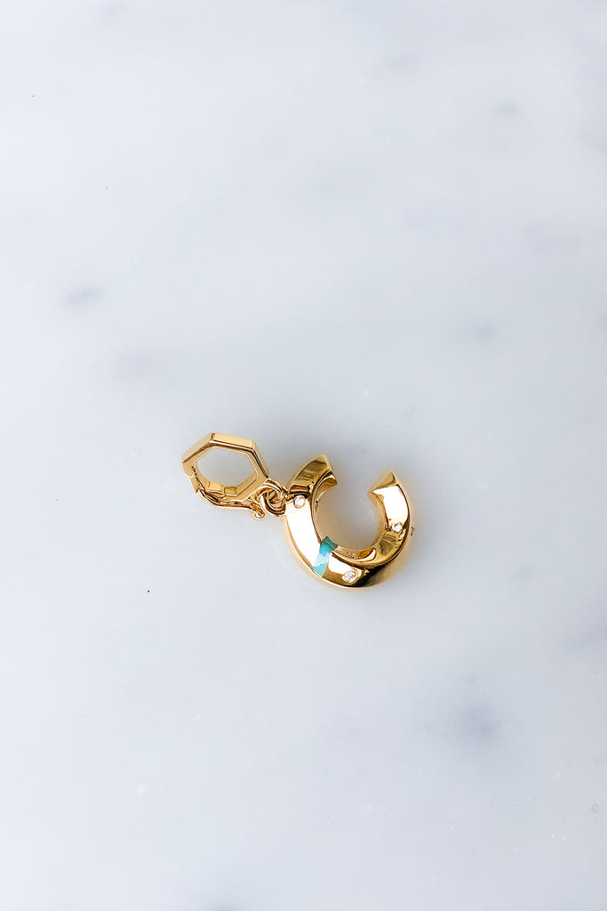 "Turquoise Initial ""C"" Charm"