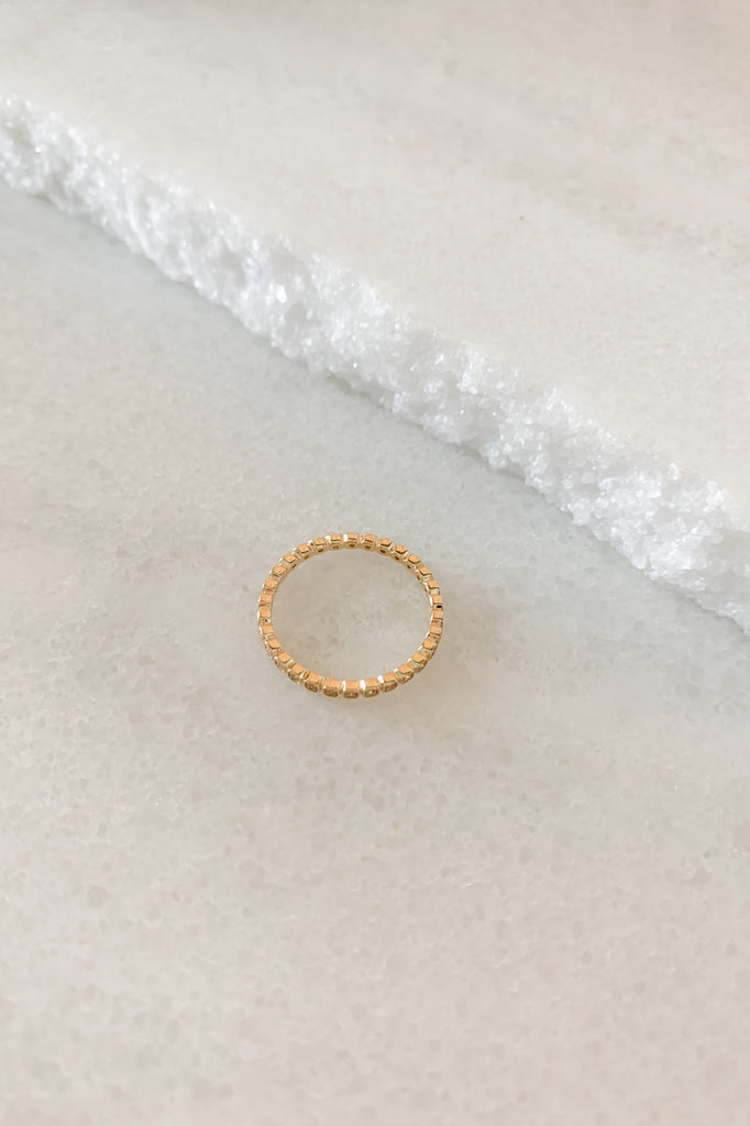 Tiny Wheat Eternity Band with Champagne Diamonds 7